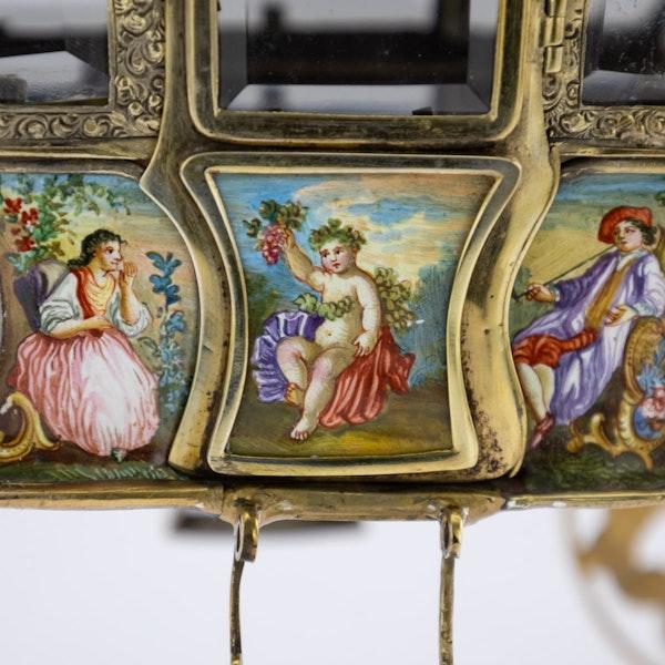 ANTIQUE 19thC AUSTRIAN SOLID SILVER-GILT & ENAMEL CARRIAGE, VIENNA c.1890 - image 14