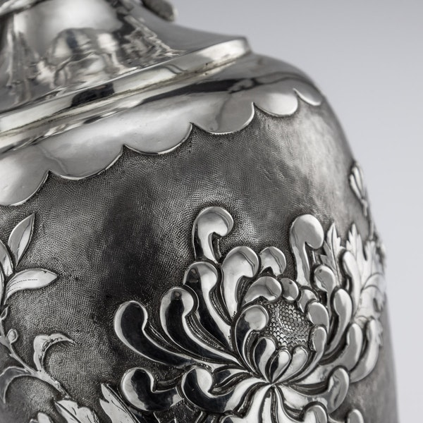 ANTIQUE 19thC CHINESE SOLID SILVER VASE, HENG LI, TIANJIN c.1890 - image 10