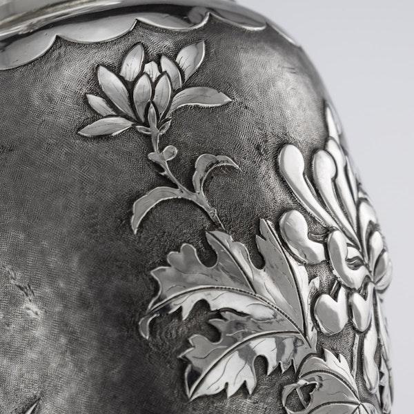 ANTIQUE 19thC CHINESE SOLID SILVER VASE, HENG LI, TIANJIN c.1890 - image 12