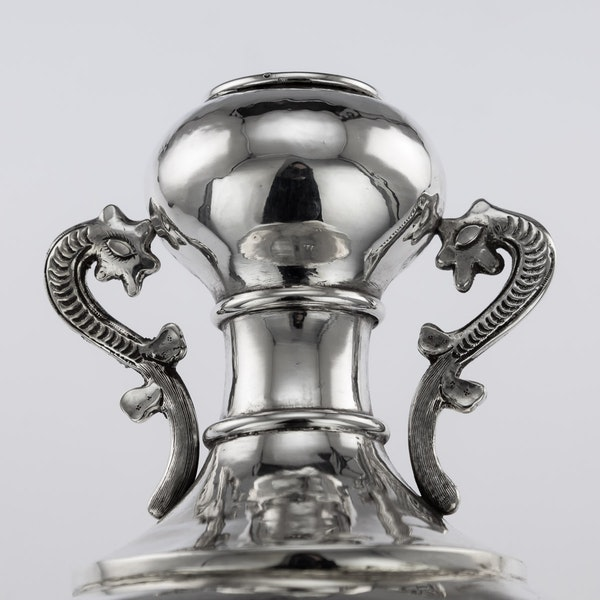 ANTIQUE 19thC CHINESE SOLID SILVER VASE, HENG LI, TIANJIN c.1890 - image 7