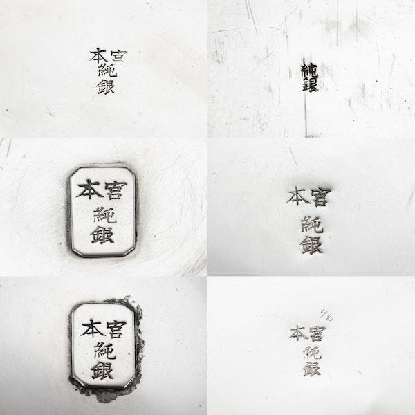 ANTIQUE 20thC JAPANESE SOLID SILVER TEA SERVICE ON TRAY, MIYAMOTO c.1900 - image 17