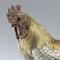 ANTIQUE 19thC JAPANESE SOLID SILVER & MIX METAL ROOSTER c.1890 - image 10