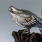 ANTIQUE 19thC JAPANESE SOLID SILVER & ENAMEL MODELS OF PIGEONS ON STAND c.1890 - image 8