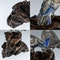 ANTIQUE 19thC JAPANESE SOLID SILVER & ENAMEL MODELS OF PIGEONS ON STAND c.1890 - image 12