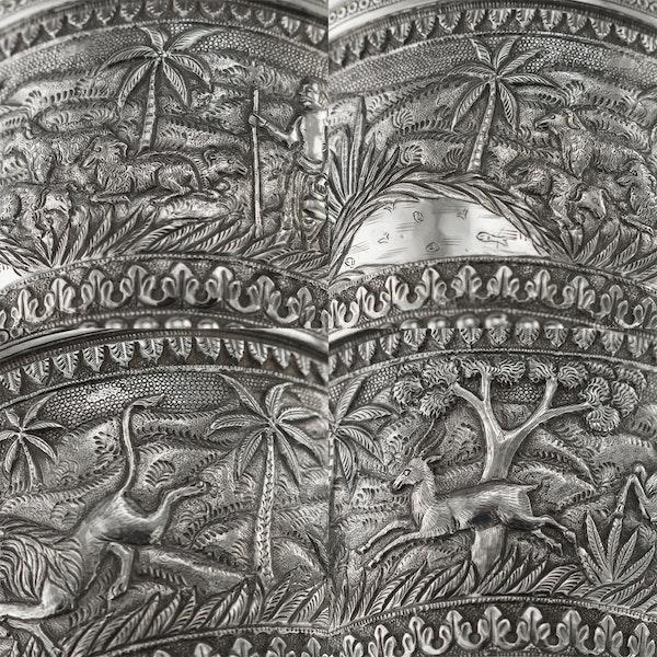 ANTIQUE 20thC INDIAN KARACHI-CUTCH SOLID SILVER TEA SET, J MANIKRAI c.1900 - image 9
