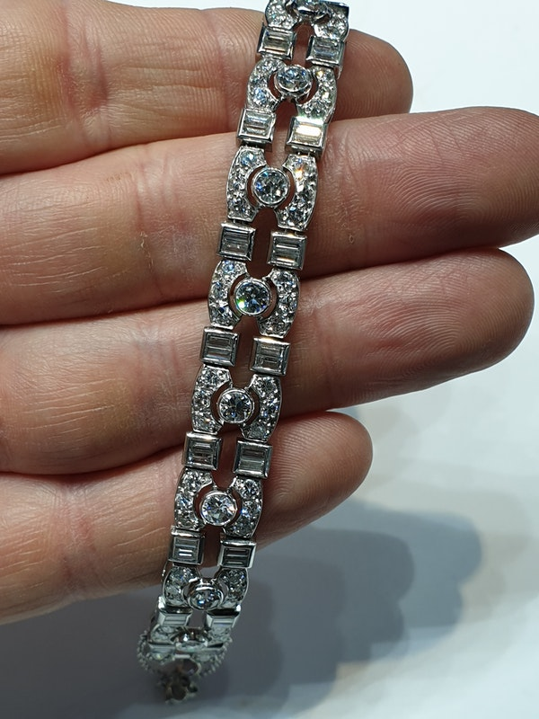 Art deco diamond bracelet  DBGEMS - image 2