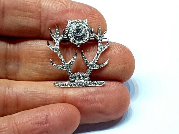 Regimental diamond sweetheart brooch  DBGEMS - image 3