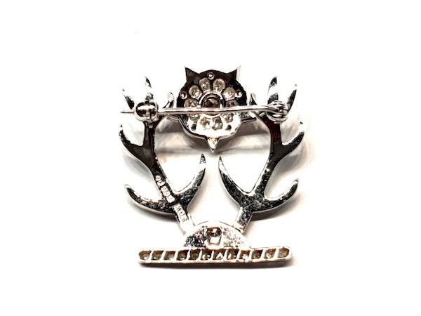 Regimental diamond sweetheart brooch  DBGEMS - image 2