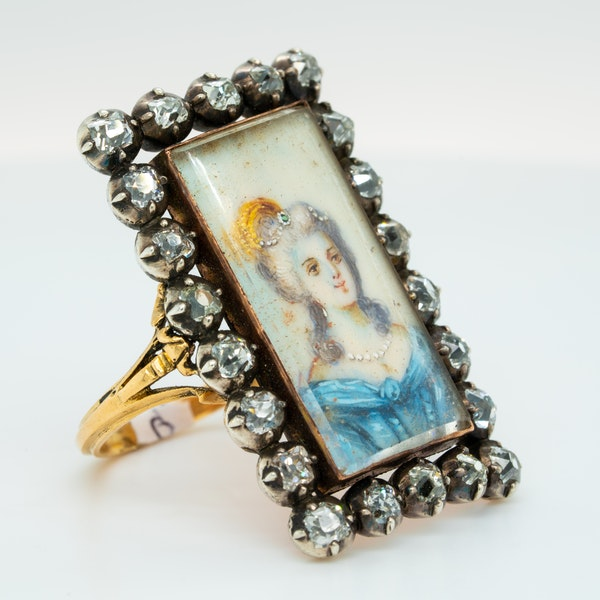 French diamond miniature ring - image 2