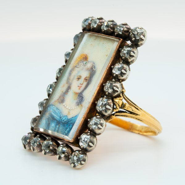 French diamond miniature ring - image 3