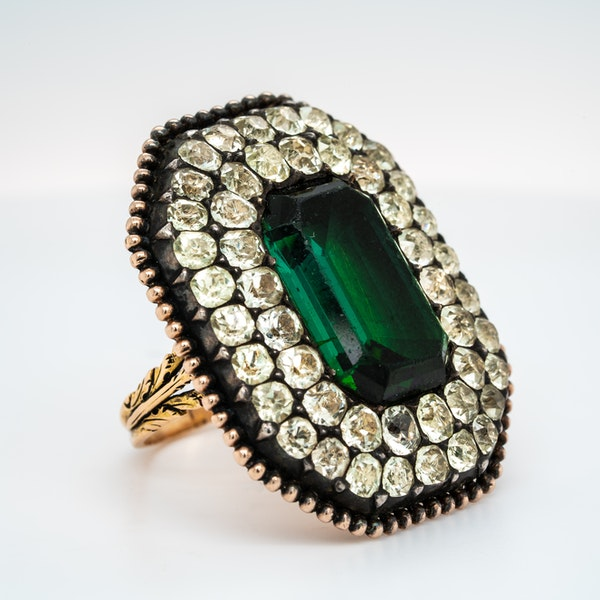 Iberian tourmaline and chrysoberyl ring - image 2