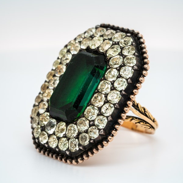 Iberian tourmaline and chrysoberyl ring - image 3