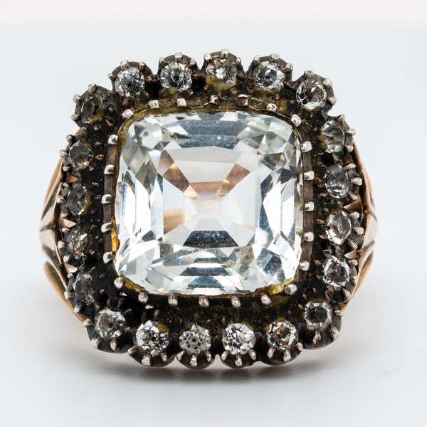 Early Victorian rock crystal ring - image 2