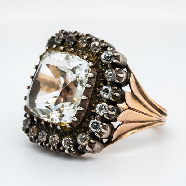 Early Victorian rock crystal ring - image 3