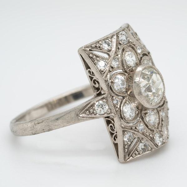 Art Deco diamond ring - image 2