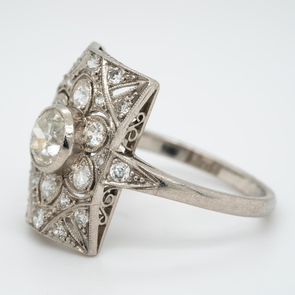 Art Deco diamond ring - image 3