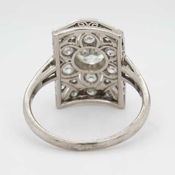 Art Deco diamond ring - image 4