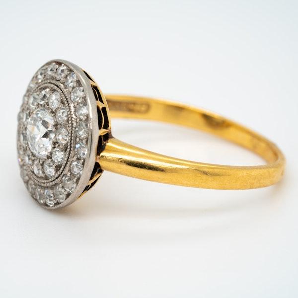 Edwardian diamond pave set circular ring - image 3