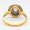 Edwardian diamond pave set circular ring - image 4