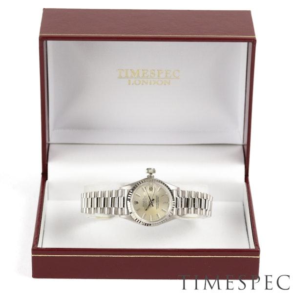 Rolex Lady Datejust 18K White Gold & Bracelet, 6517, Circa 1960s, 26mm - image 3