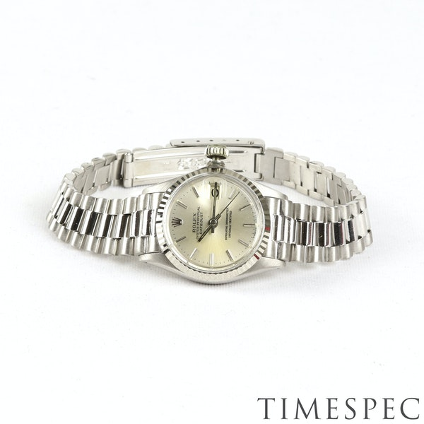 Rolex Lady Datejust 18K White Gold & Bracelet, 6517, Circa 1960s, 26mm - image 4