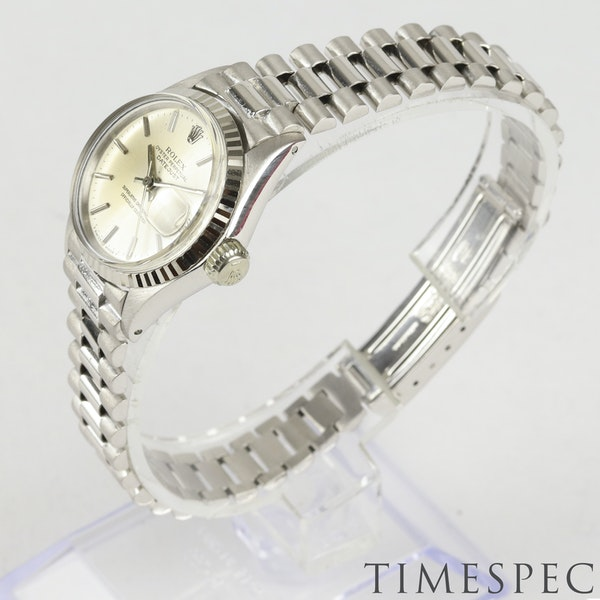 Rolex Lady Datejust 18K White Gold & Bracelet, 6517, Circa 1960s, 26mm - image 2