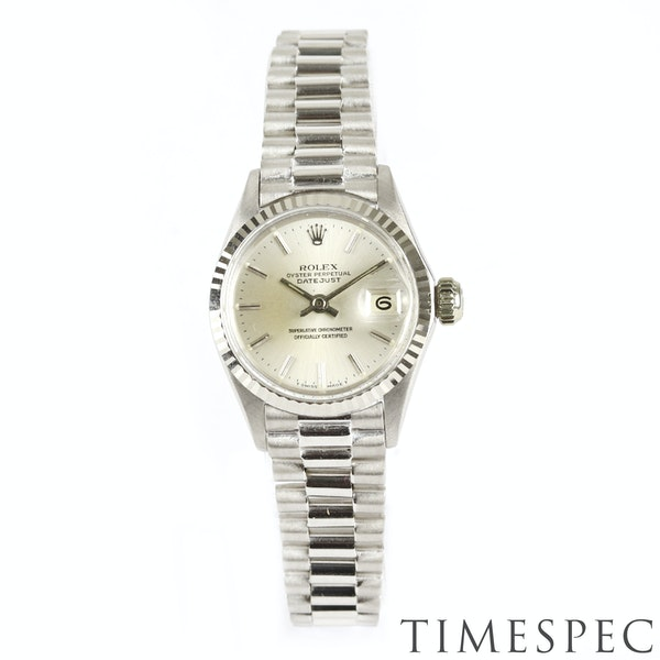 Rolex Lady Datejust 18K White Gold & Bracelet, 6517, Circa 1960s, 26mm - image 6