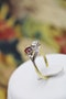 A very fine Art Nouveau Ruby & Diamond Twist Ring in 18 Carat Yellow Gold & Platinum tipped (tested), Circa 1905 - image 1