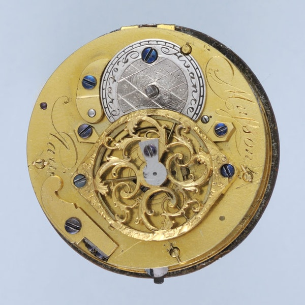 DIAMOND SET GOLD AND ENAMEL POCKET WATCH - image 2