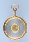 GOLD AND ENAMEL FRENCH VERGE POCKET WATCH - image 3