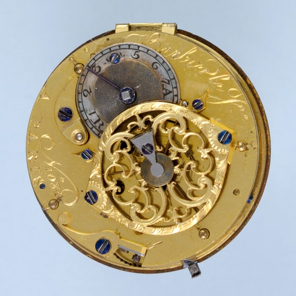 GOLD AND ENAMEL FRENCH VERGE POCKET WATCH - image 2