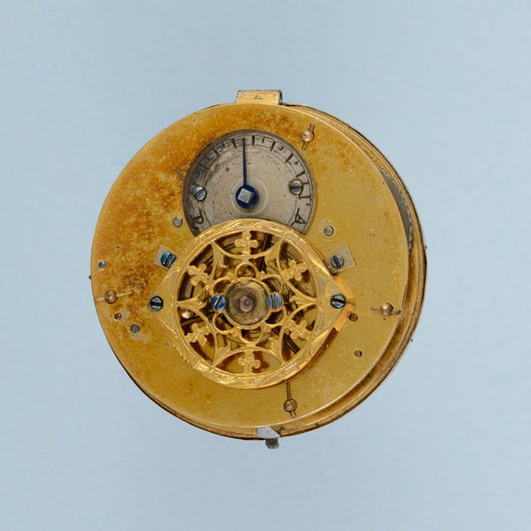 SMALL GOLD AND ENAMEL VERGE POCKET WATCH - image 2