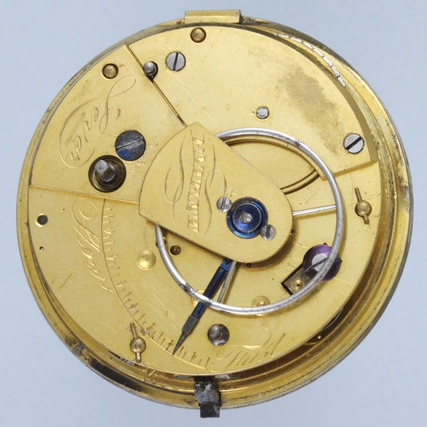 SILVER RACK LEVER POCKET WATCH - image 3