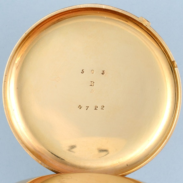 GOLD QUARTER REPEATING LEVER POCKET WATCH - image 5