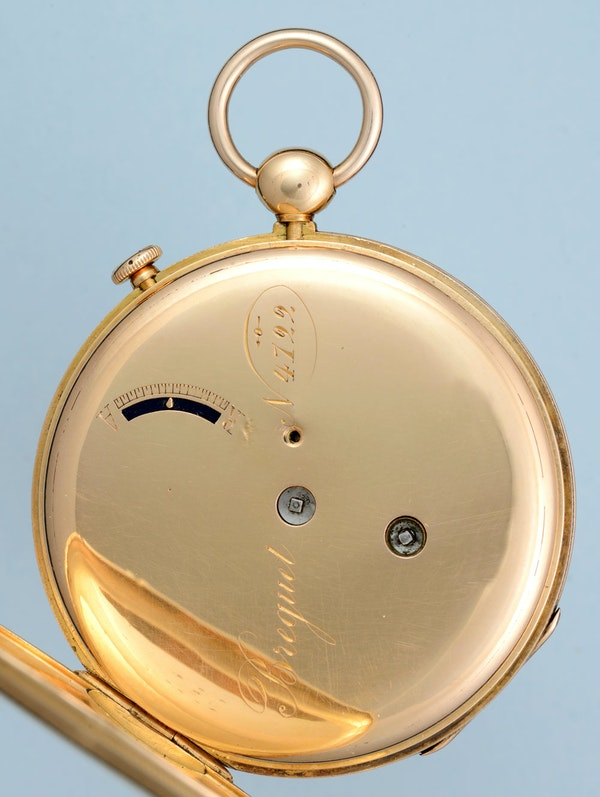 GOLD QUARTER REPEATING LEVER POCKET WATCH - image 6