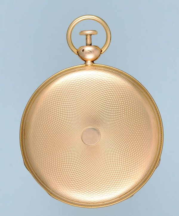 GOLD QUARTER REPEATING FRENCH CYLINDER POCKET WATCH - image 4