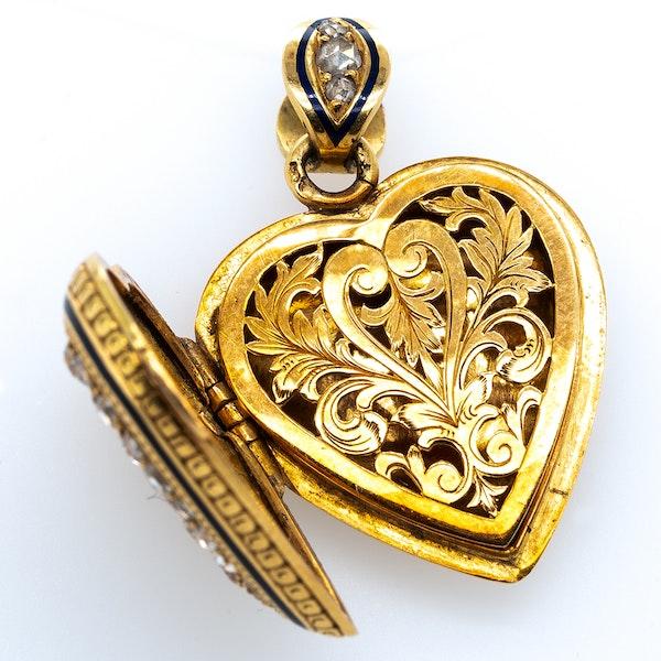 Ruby diamond heart vinaigrette pendant - image 3