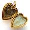 Victorian pearl heart locket pendant - image 2