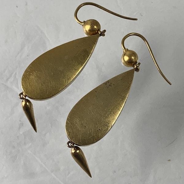 1840 Wedgwood gold earrings - image 2