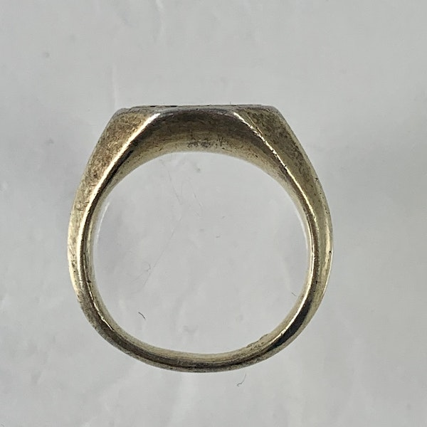 1480 silver gilt ring - image 2
