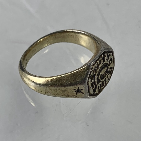 1480 silver gilt ring - image 3