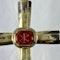 Byzantine silver cross with jasper intaglio - image 2