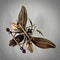 Three coloured gold dragon fly brooch - image 2