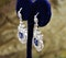 An exceptionally fine pair of Natural Sapphire and Diamond Drop Platinum Earrings, English, Circa 1910. - image 2