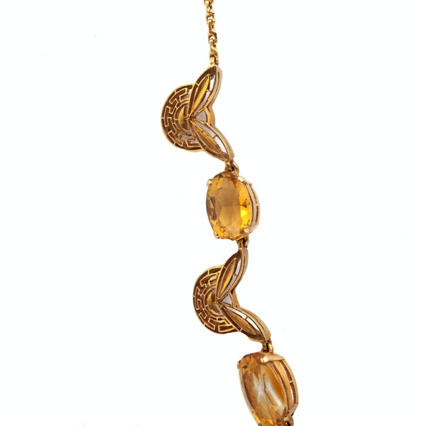 A 1970s Citrine Necklace - image 3