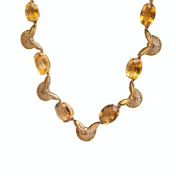 A 1970s Citrine Necklace - image 2