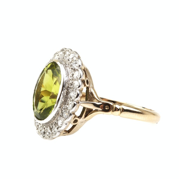 A Peridot and Diamond Ring - image 3
