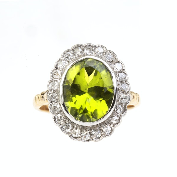 A Peridot and Diamond Ring - image 2