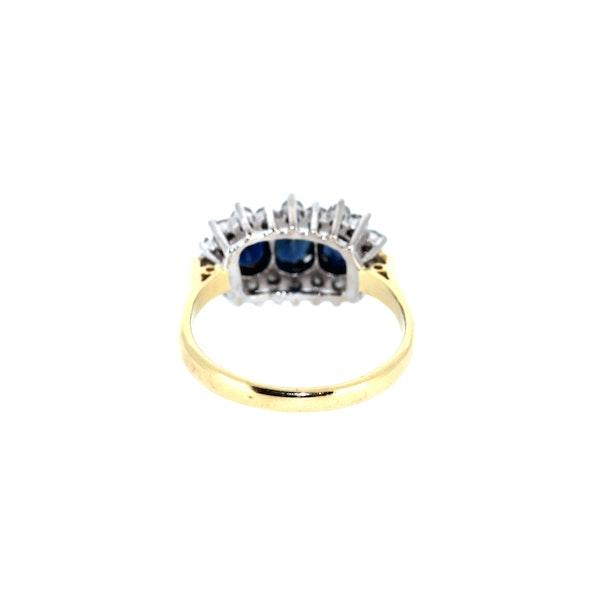 Three Stone Sapphire Cluster Ring. S.Greenstein - image 3