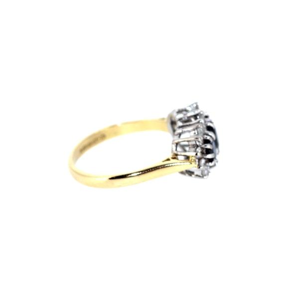 Three Stone Sapphire Cluster Ring. S.Greenstein - image 4